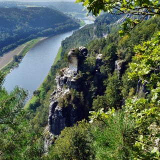 View of the bastei to the elbe